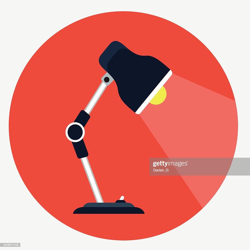 Vector desk lamp icon