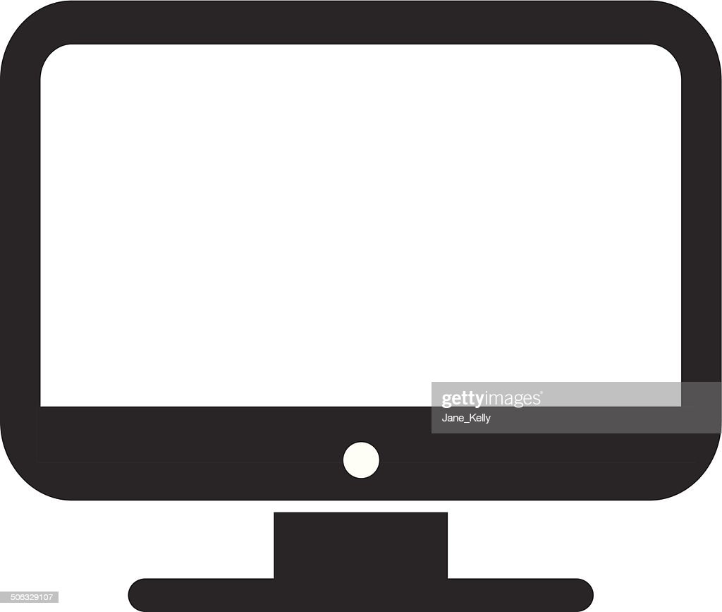 vector desktop computer icon vector art getty images