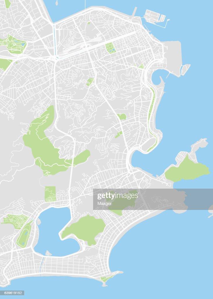 Vector Detailed Map Rio De Janeiro Stock-Illustration ...