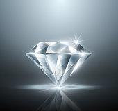 Vector diamond against a gray background