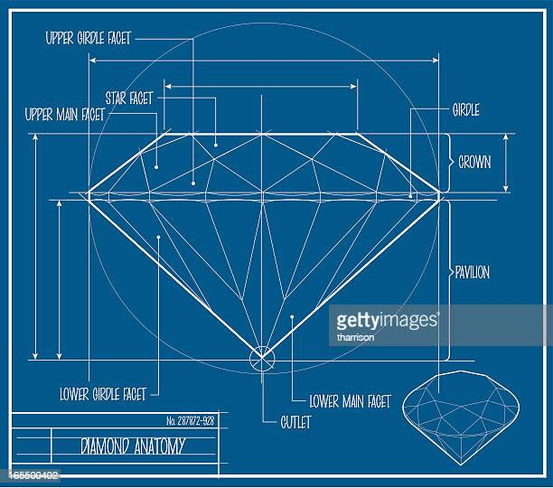 vector diamond blueprint - diamond shapes stock illustrations, clip art, cartoons, & icons