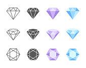 Vector Diamond Colorful Icons