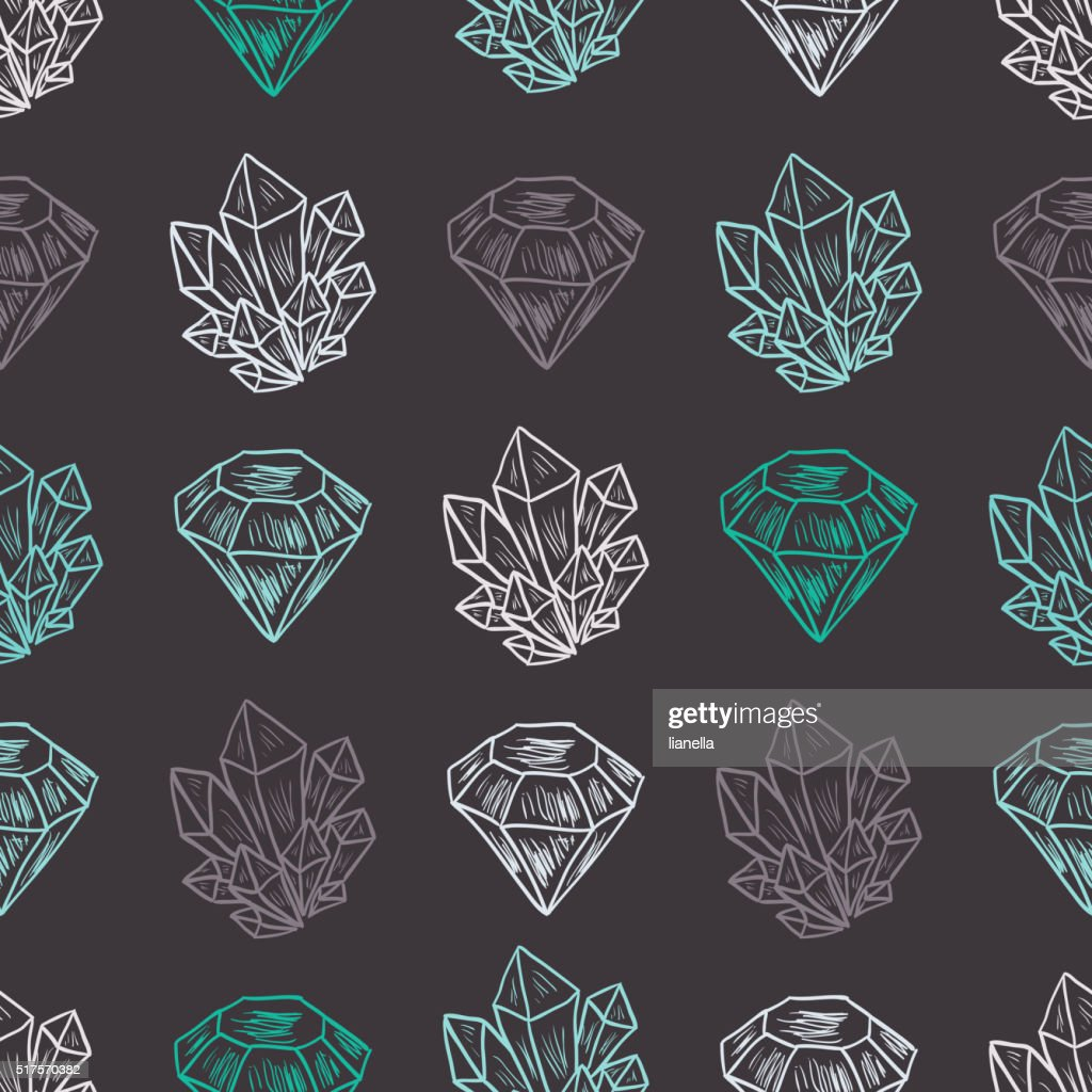Vector Diamond Seamless Pattern