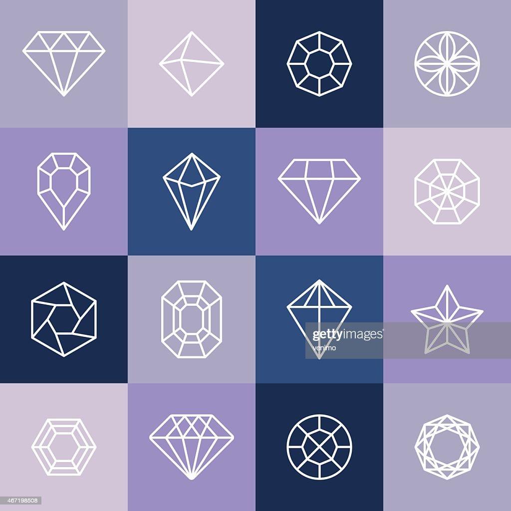 Vector diamonds and gems