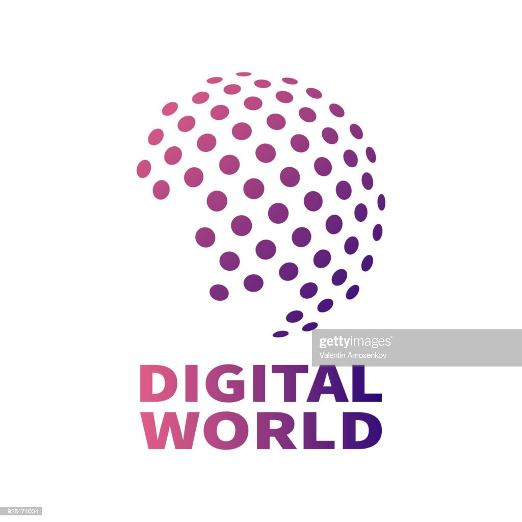 Vector digital global technology concept