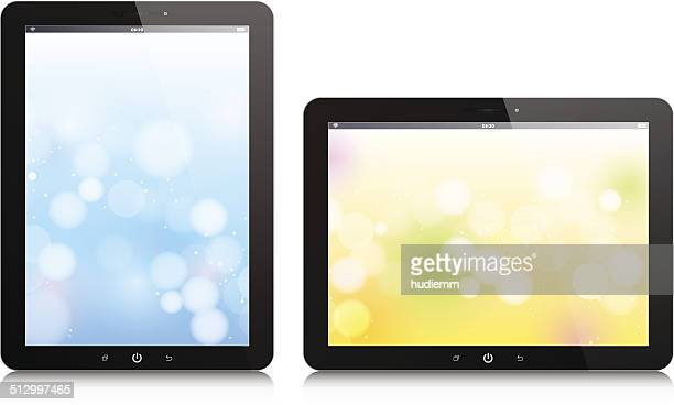 Vector Digital Tablet PC isolated on white background