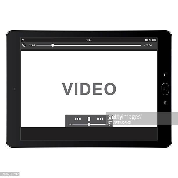 vector digital tablet template for video - video still stock illustrations, clip art, cartoons, & icons