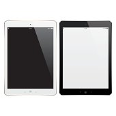 Vector Digital Tablets with Blank Screen