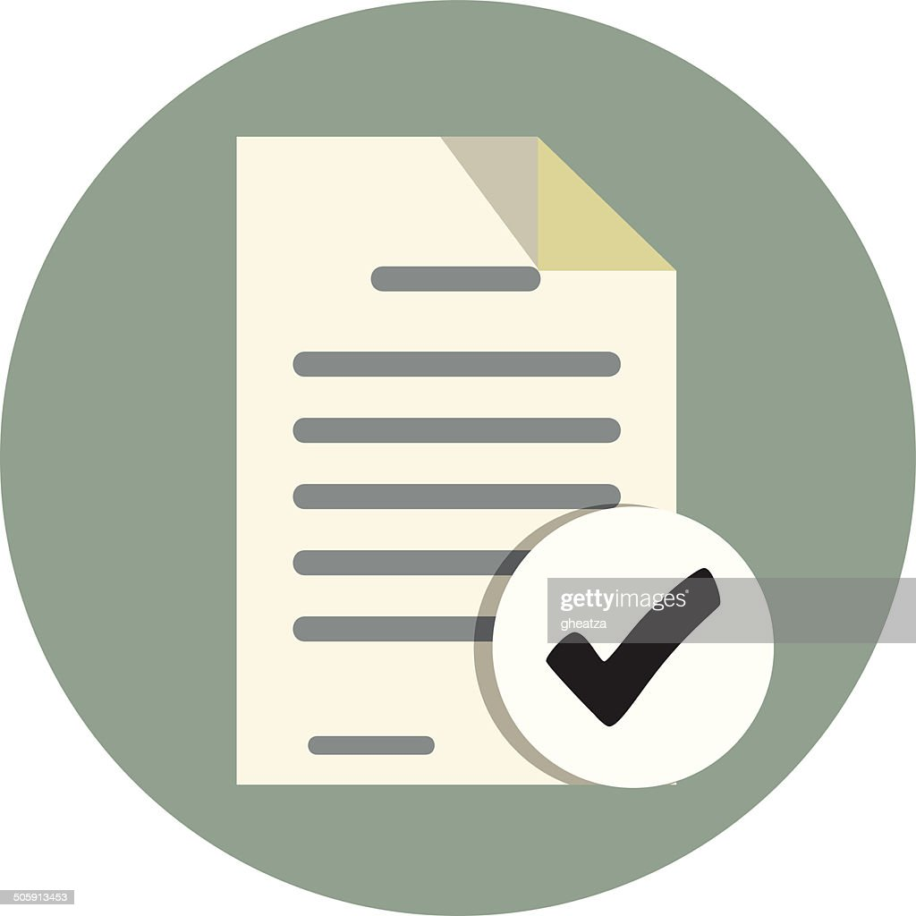 Vector Document Check Icon
