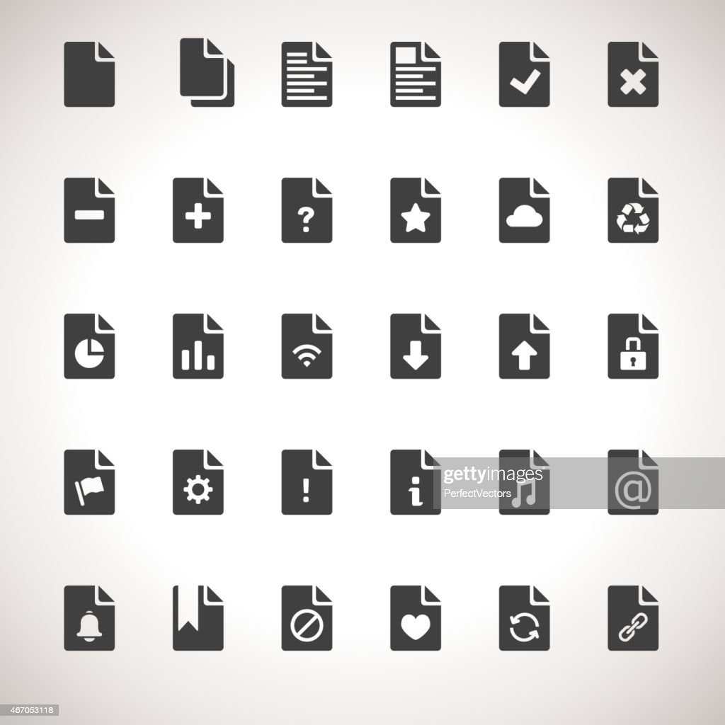 Vector Documents Icon Set