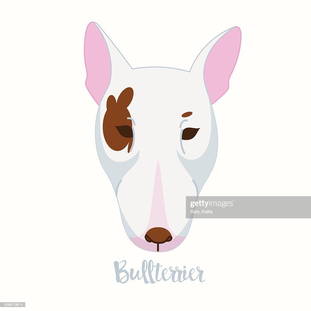Vector dog Bullterrier