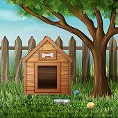 Vector dog house
