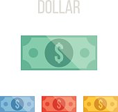 Vector dollar icons
