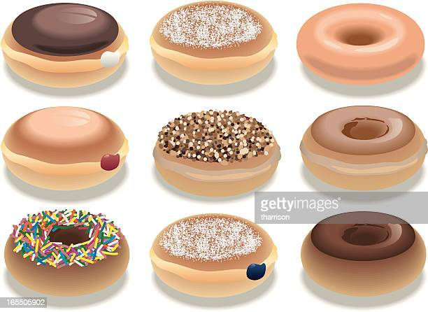 vector donuts - donut stock illustrations, clip art, cartoons, & icons