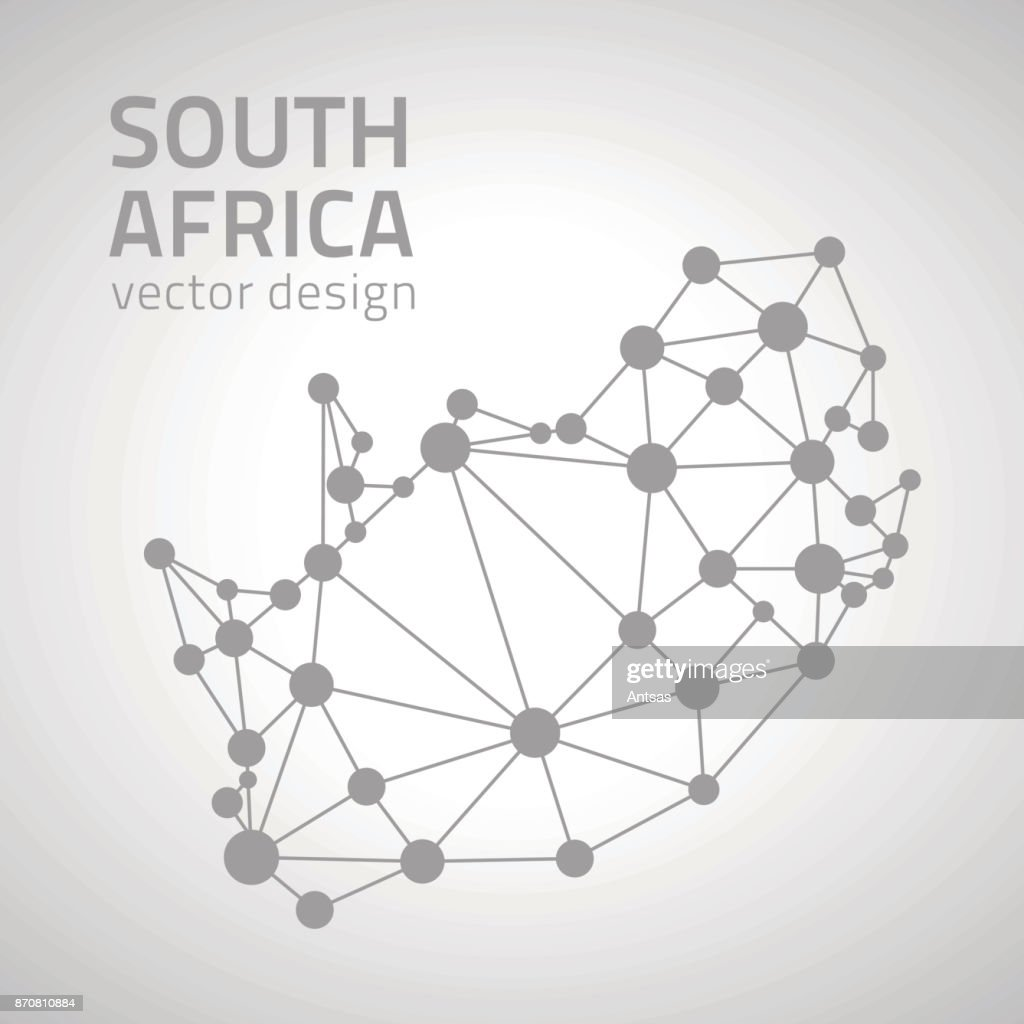 vector dot grey outline triangle perspective modern map