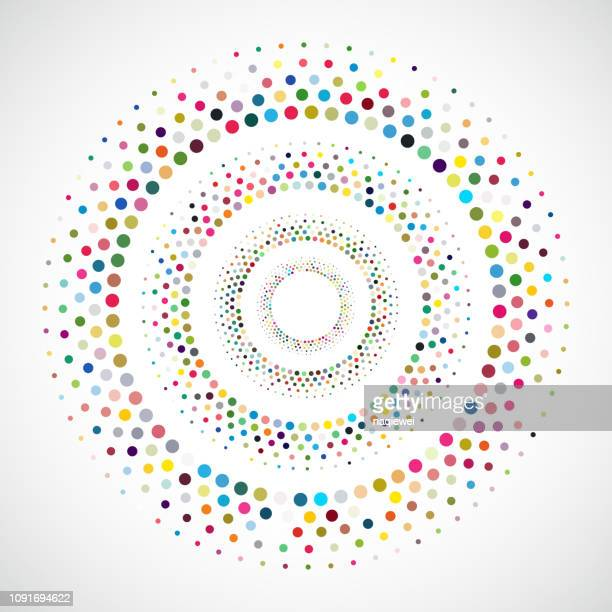 vector dots pattern - concentric stock illustrations