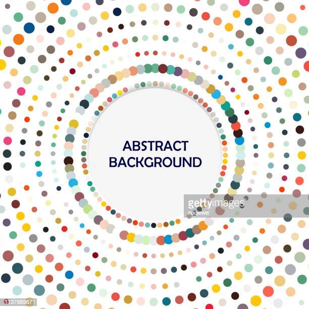 vector dots ring pattern backgrounds - gymnastics stock illustrations