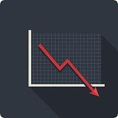 Vector Downturn Icon.