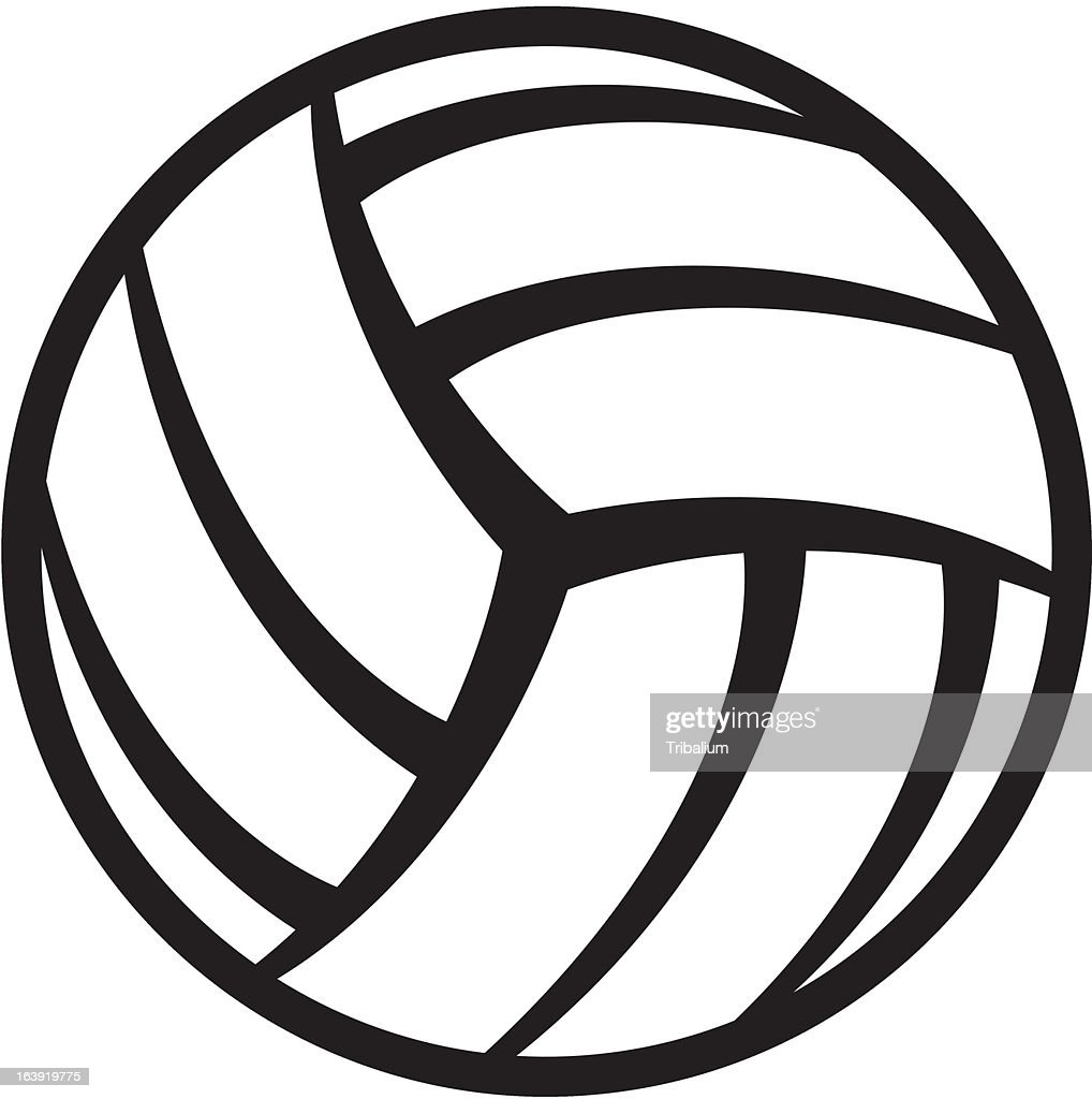Vector drawing of a volleyball