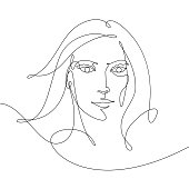 Vector drawing of a woman