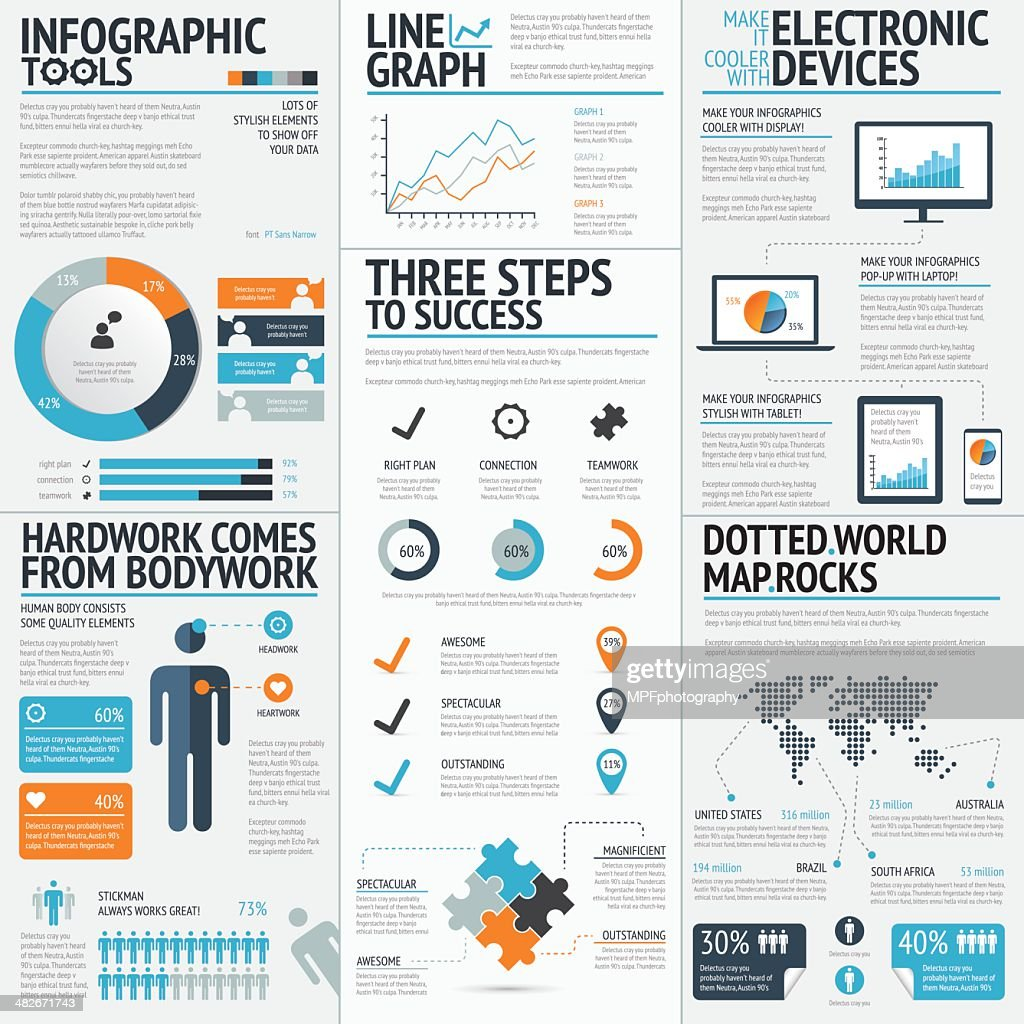 Vector drawing of business infographic elements
