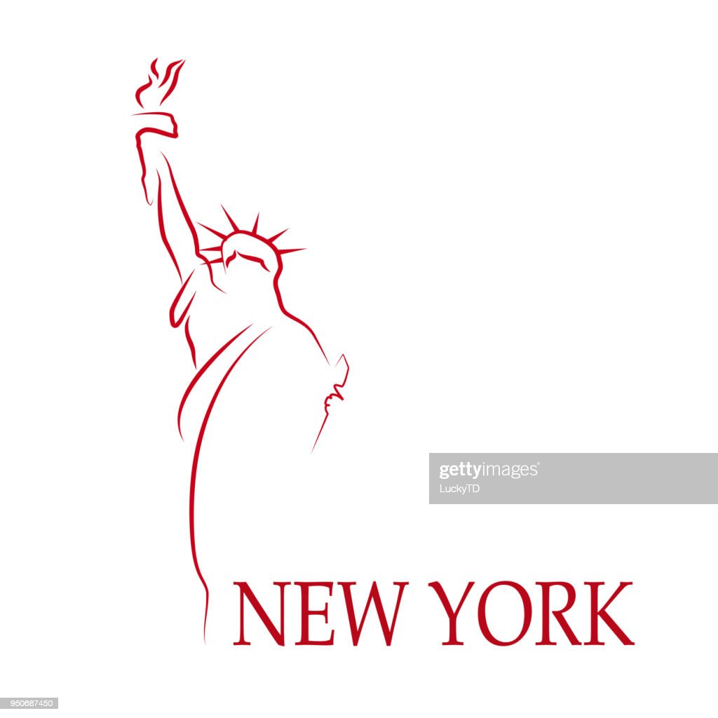 Vector Drawing sign New York