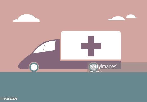 vector drawn ambulance - disaster relief stock illustrations, clip art, cartoons, & icons