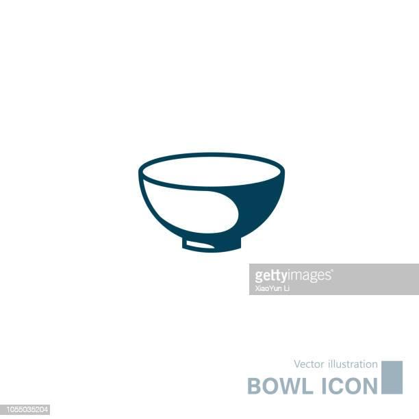 vector drawn bowl icon. - bowl stock illustrations