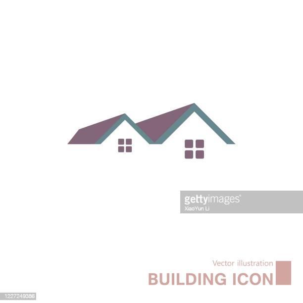 vector drawn building icon. - housing development stock illustrations