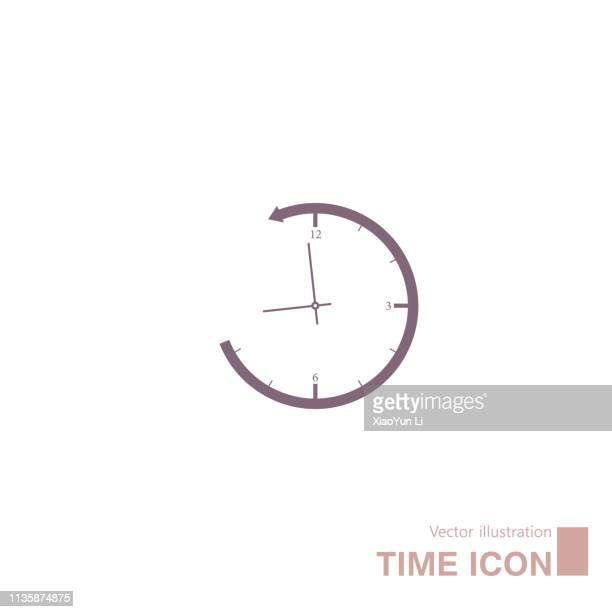 Vector drawn clock icon.