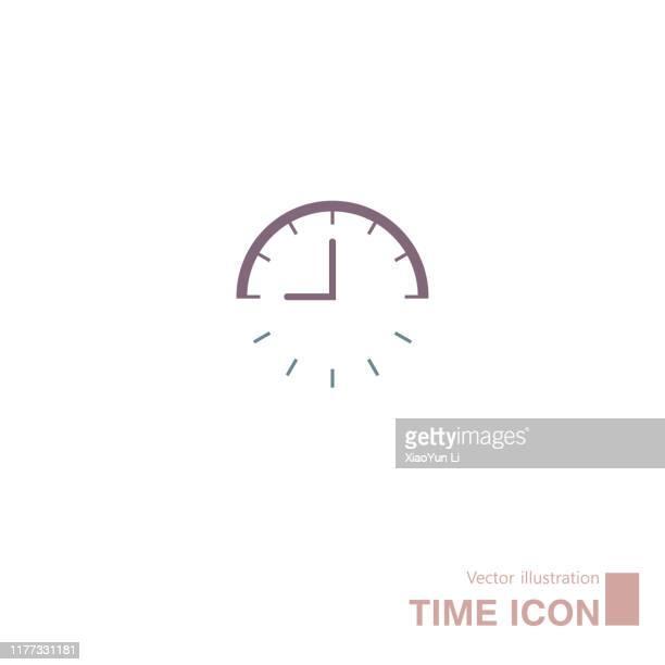 ilustrações, clipart, desenhos animados e ícones de ícone desenhado vetor do pulso de disparo. - cronômetro instrumento para medir o tempo