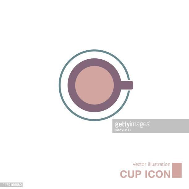 vektor gezeichnet kaffee. - tasse oder becher stock-grafiken, -clipart, -cartoons und -symbole