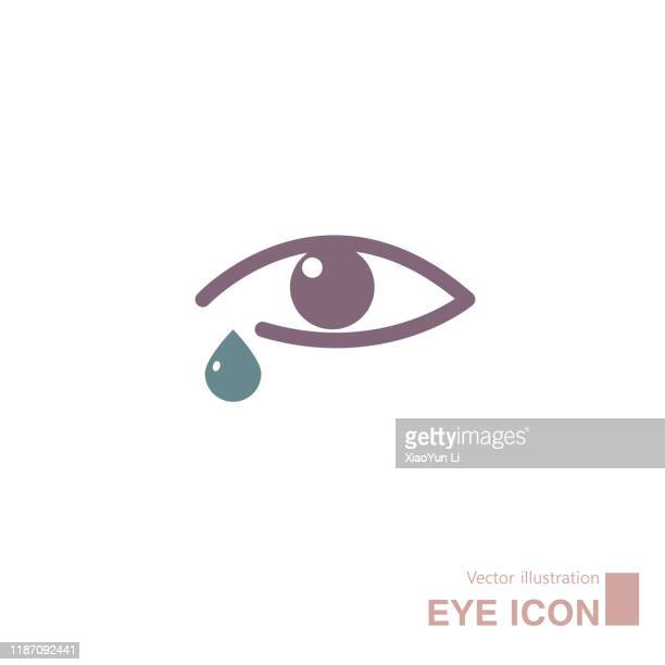 vector drawn eye icon. - teardrop stock illustrations