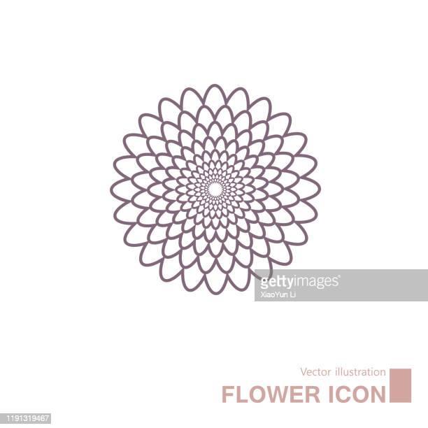 vector drawn flowers. - flower head stock illustrations