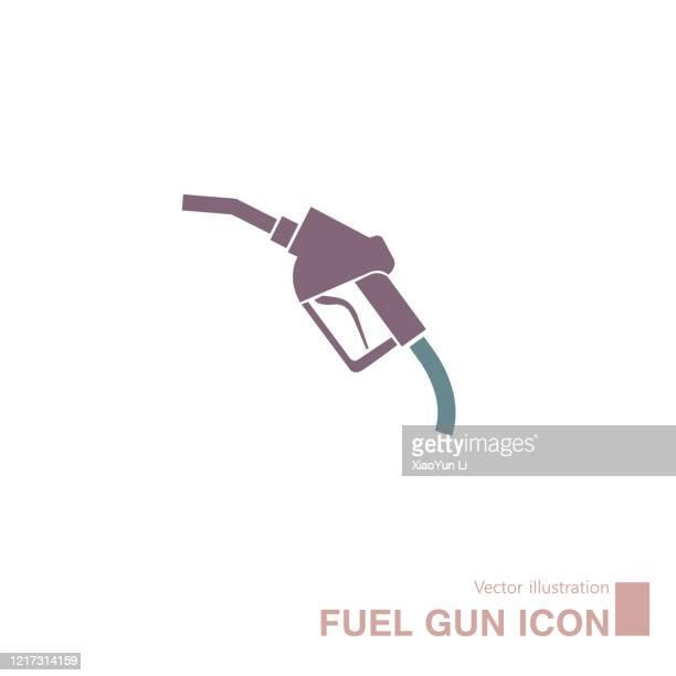 ilustrações, clipart, desenhos animados e ícones de vector sacou uma arma de gás. isolado em fundo branco. - fábrica petroquímica