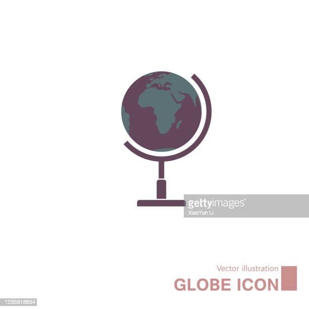 illustrazioni stock, clip art, cartoni animati e icone di tendenza di vector drawn globe. - mappamondo