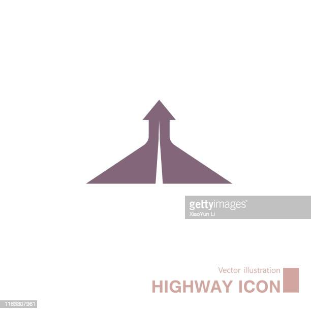 vector drawn highway icon. - diminishing perspective stock illustrations