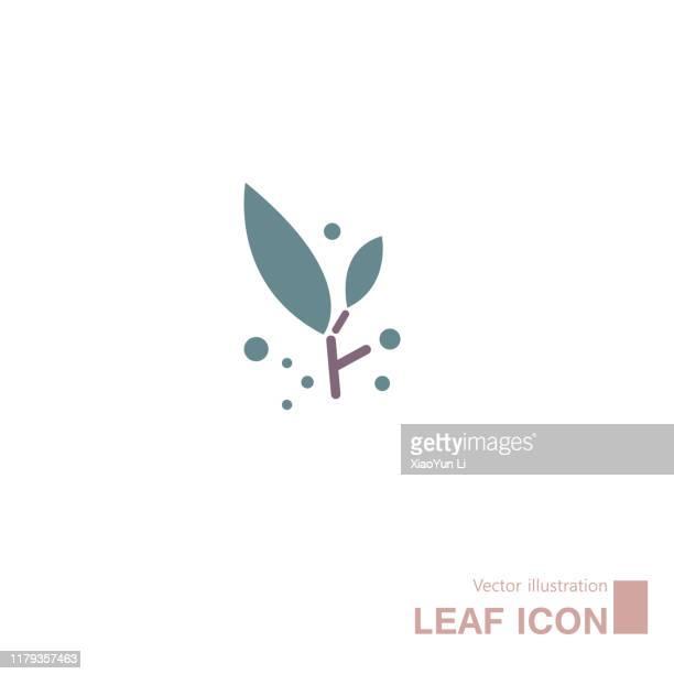 illustrations, cliparts, dessins animés et icônes de feuilles dessinées par vectoriel. isoler sur le fond blanc. - arbre