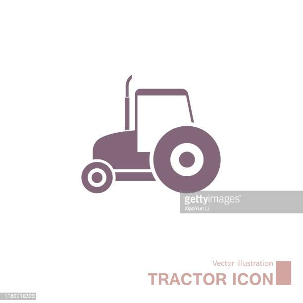ilustraciones, imágenes clip art, dibujos animados e iconos de stock de tractor vectorial. - tractor