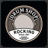Vector drum shop icon