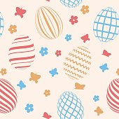 Vector Easter pattern