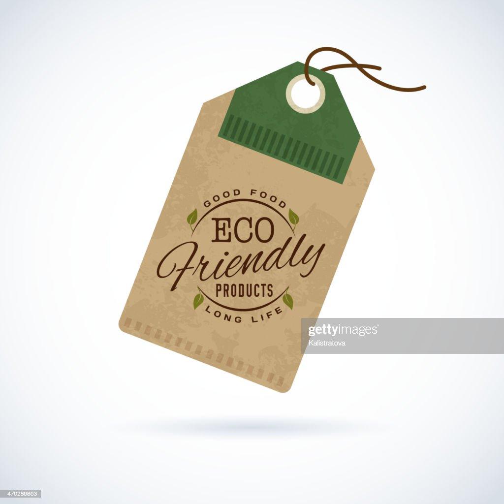 A vector eco friendly sticker label