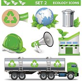 Vector Ecology Icons Set 2