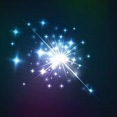 Vector effect of cosmic lens flare burst