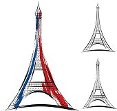 Free eiffel tower clipart and vector graphics clipart tour eiffel vector eiffel tower on white background thecheapjerseys Gallery
