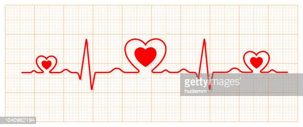 Vector electrocardiogram and heart pattern (health concept)