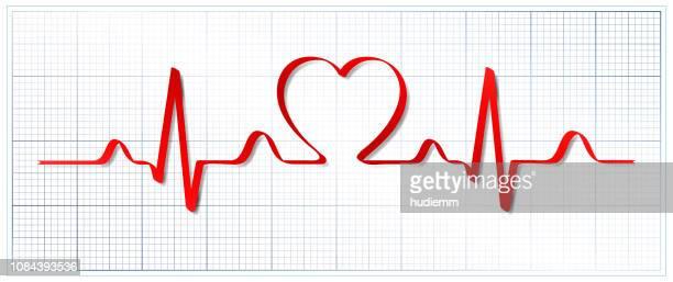 ilustraciones, imágenes clip art, dibujos animados e iconos de stock de patrón de vector electrocardiograma y corazón (concepto de salud) - sistema circulatorio