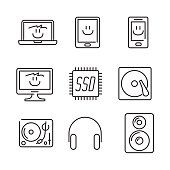 Vector electronics icons