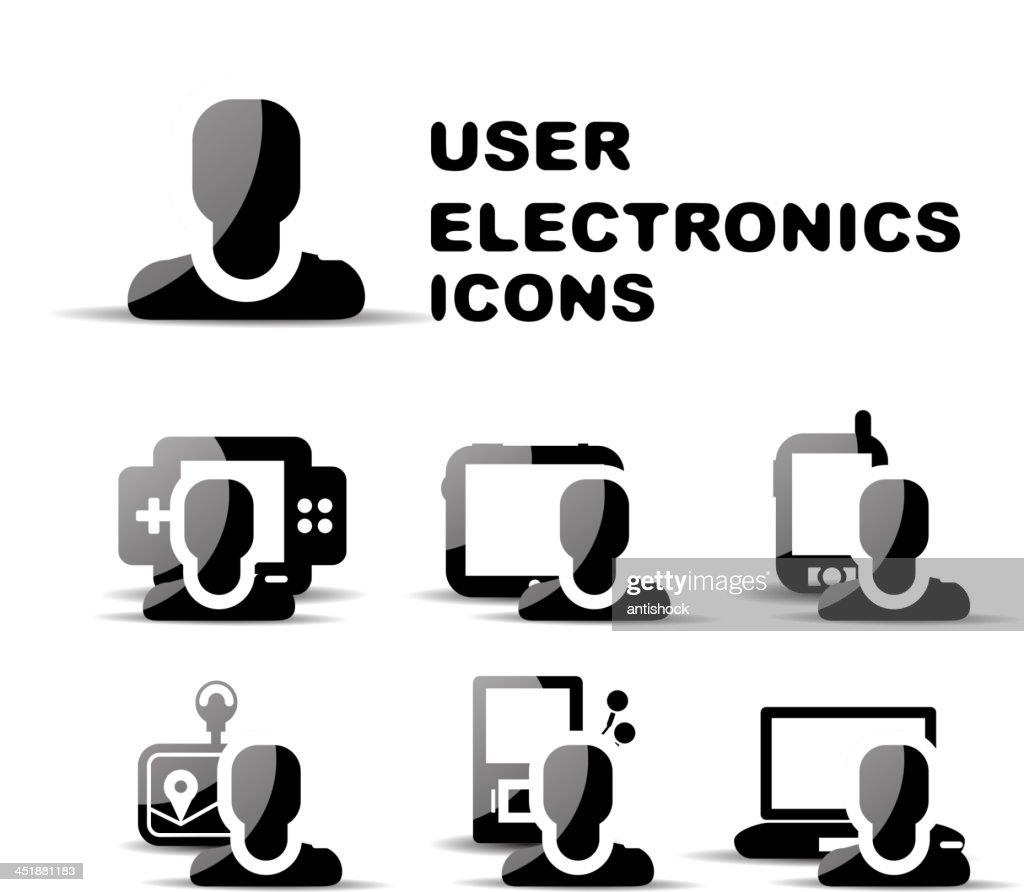 Vector electronics user icons