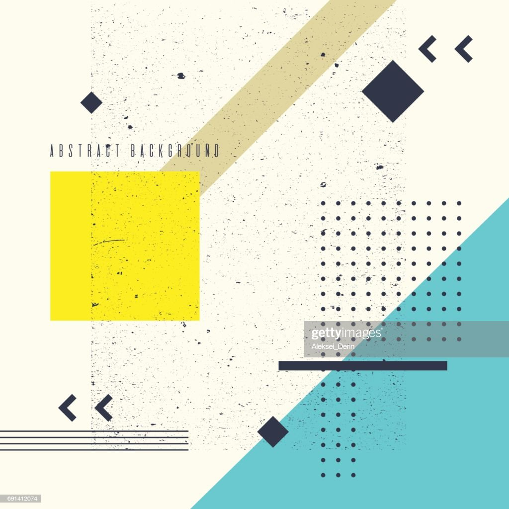 Vector elements. Abstract art geometric background with flat, minimalistic style